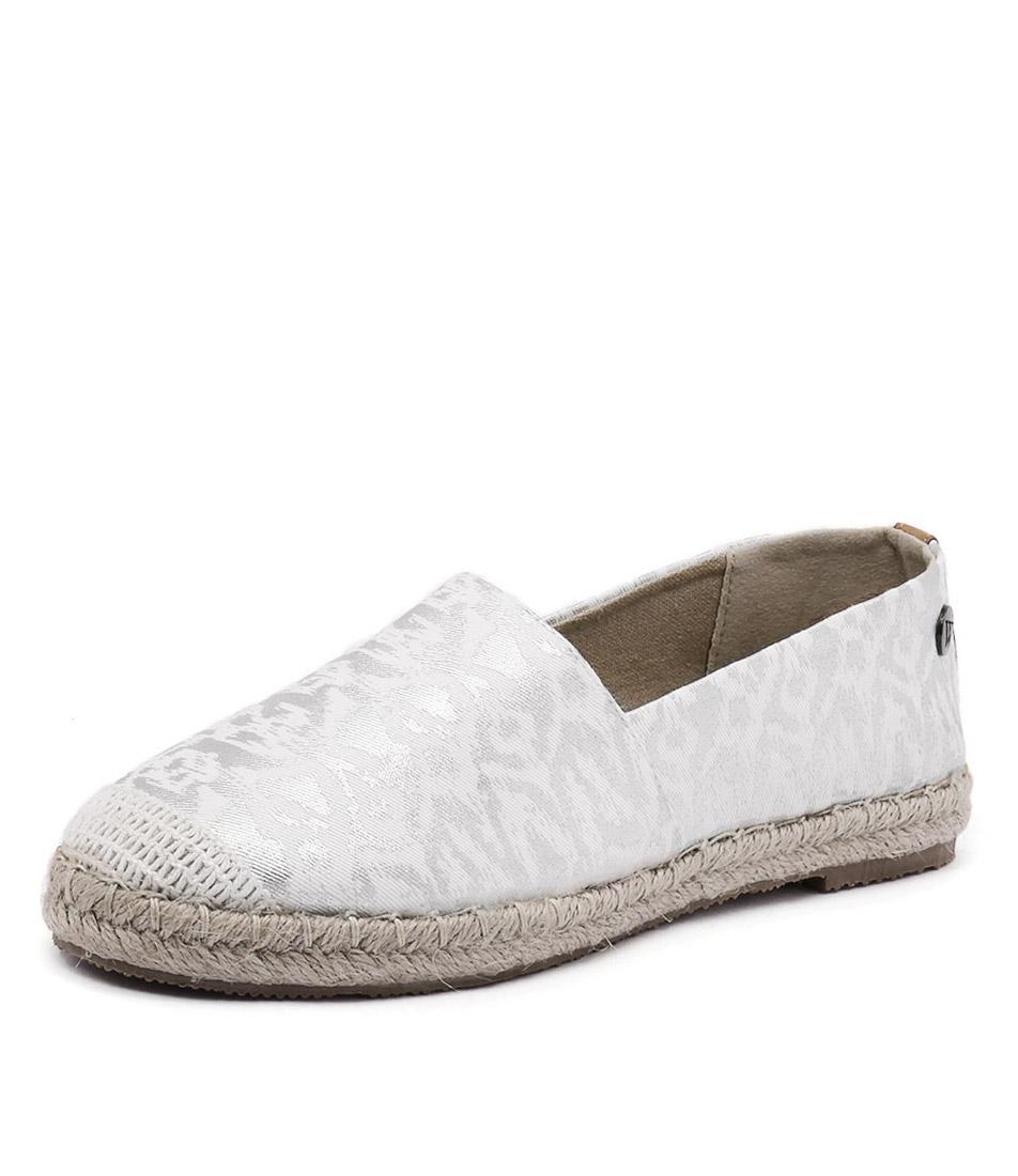 Walnut Melbourne Moon Espadrille Silver Splash Shoes