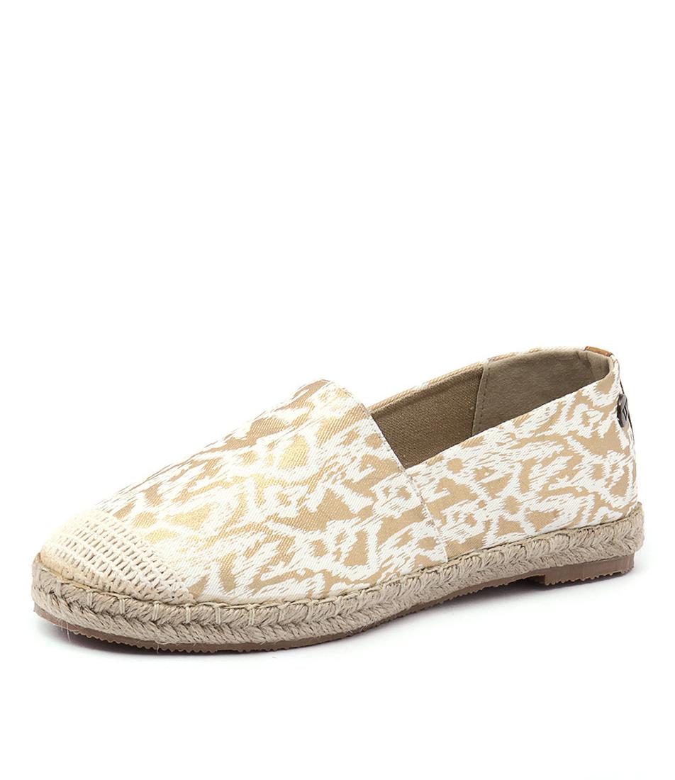 Walnut Melbourne Moon Espadrille Gold Splash Shoes