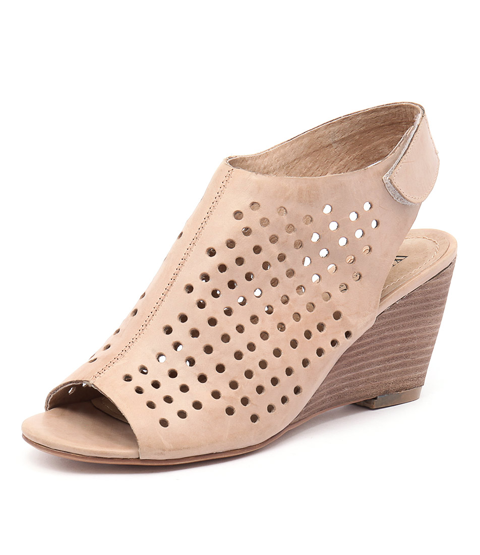 Walnut Melbourne Geri Wedge Blush Shoes