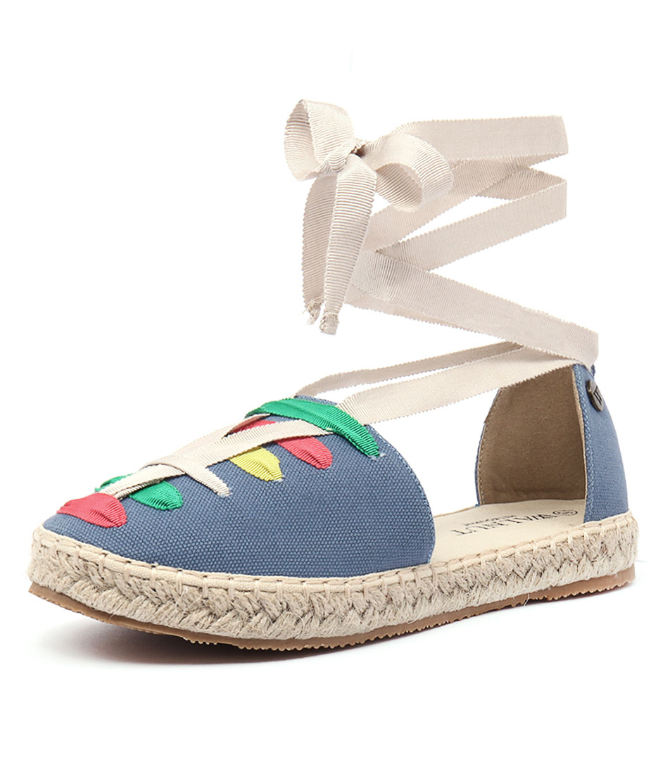 Walnut Melbourne Lacy Espadrille Multi-Indigo Shoes
