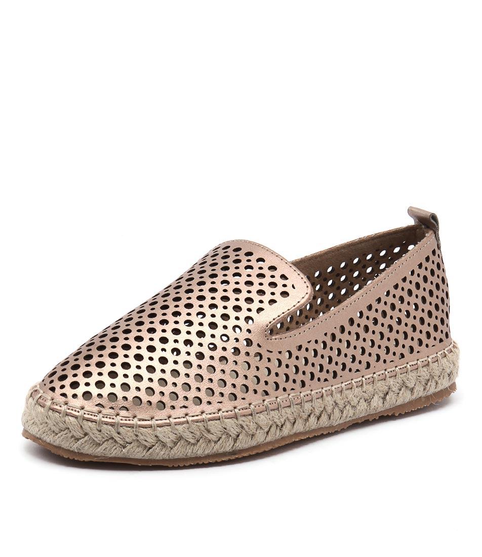 Walnut Melbourne Sibella Perf Espadrille Rose Gold Shoes