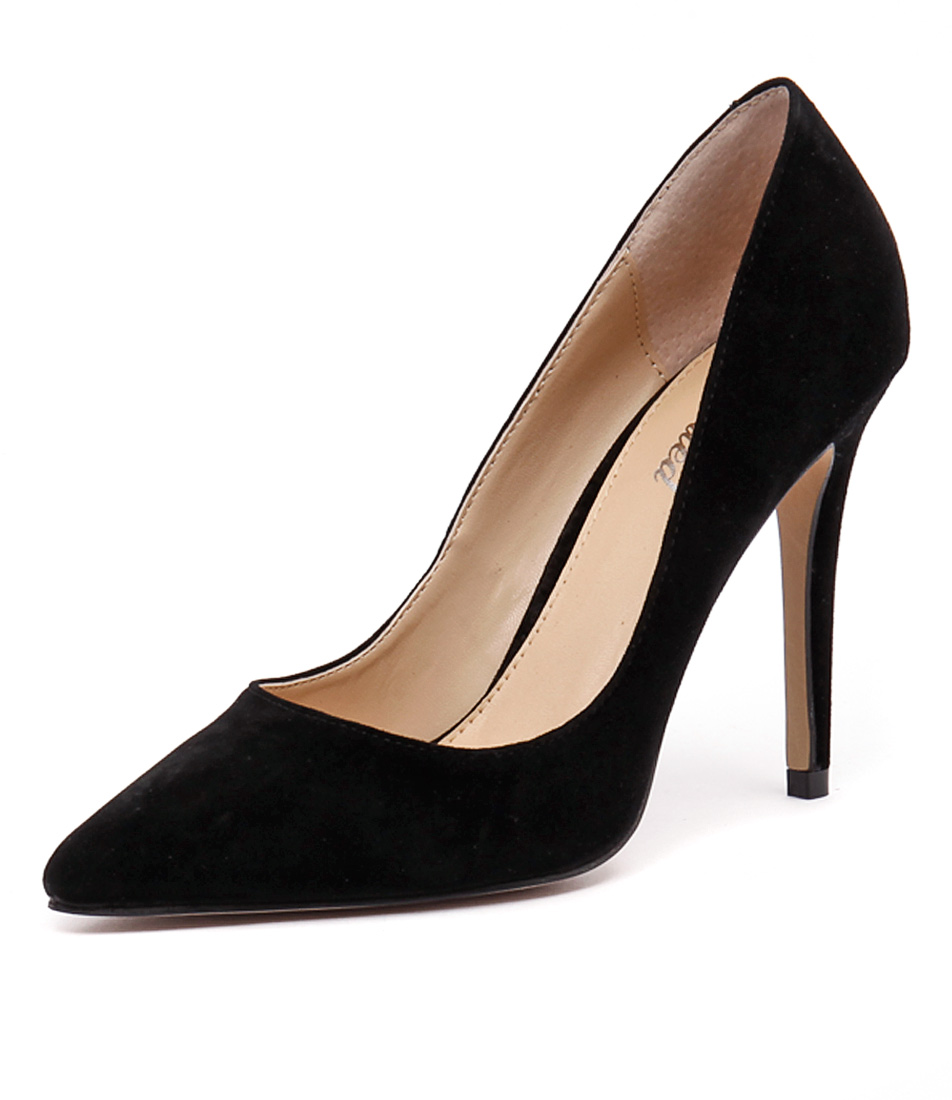 Wanted Barrio Black Suede Dress Pumps