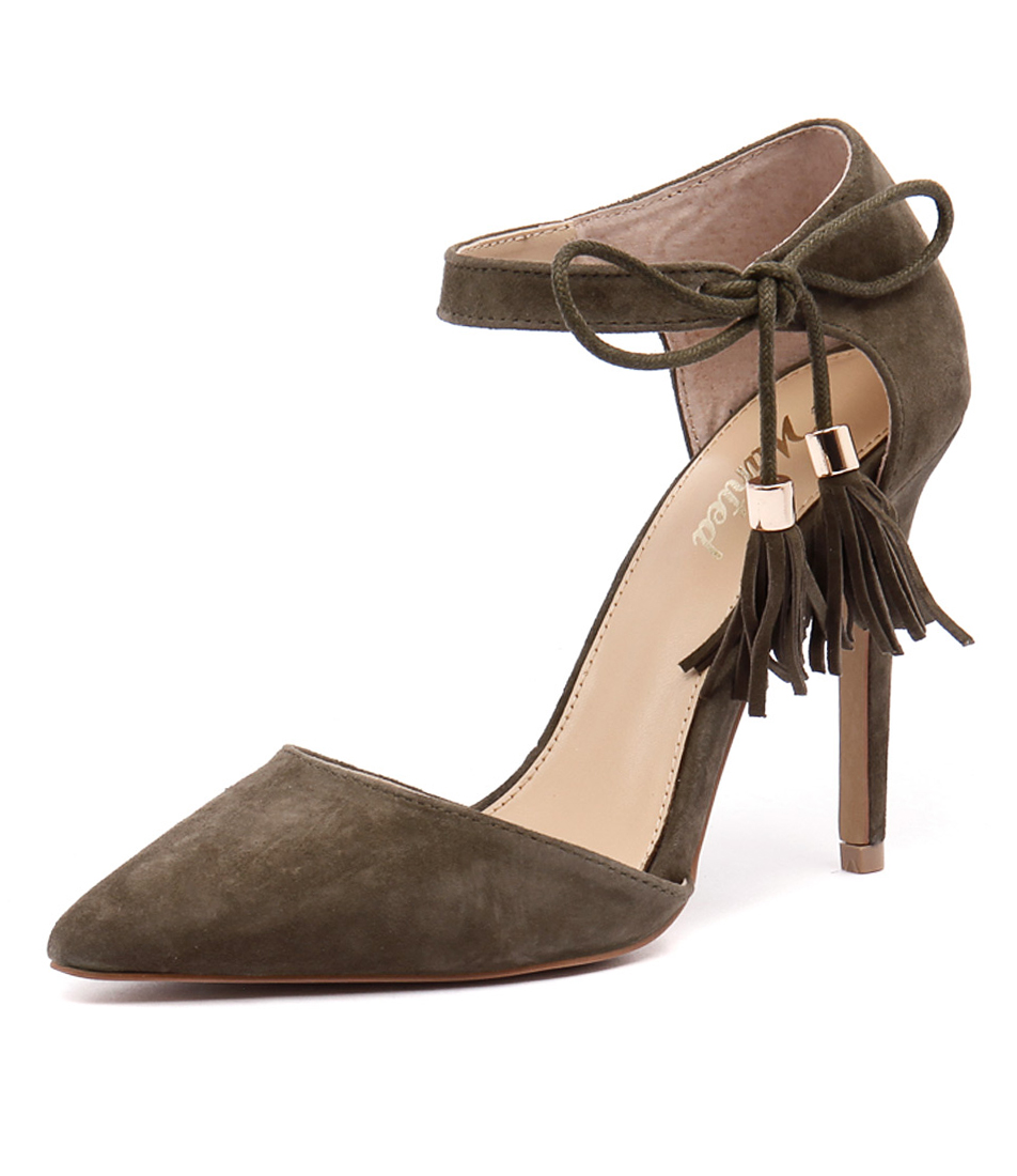 Wanted Bellagio Khaki Suede Shoes
