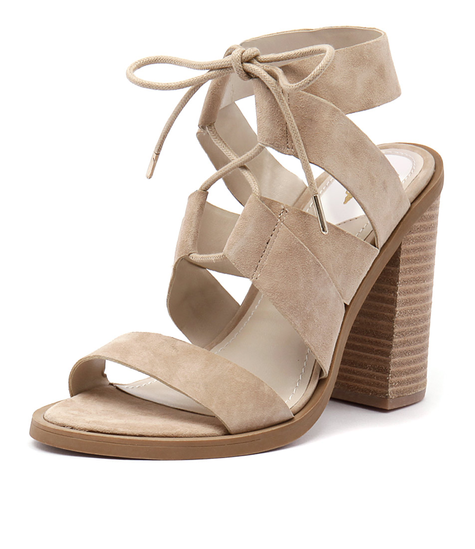 Windsor Smith Tyra Sand Suede-Blonde Sandals