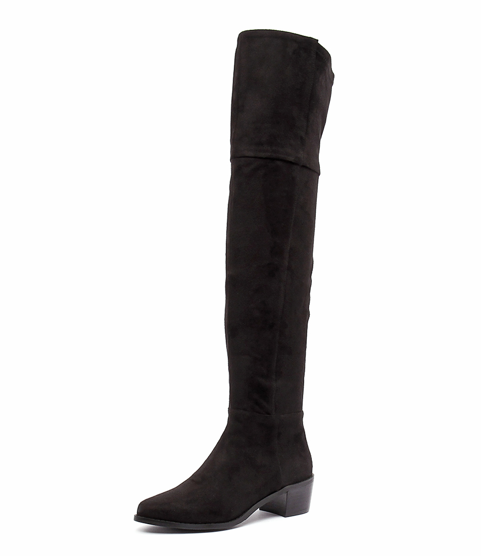 Billini Diaz Black Suede Boots