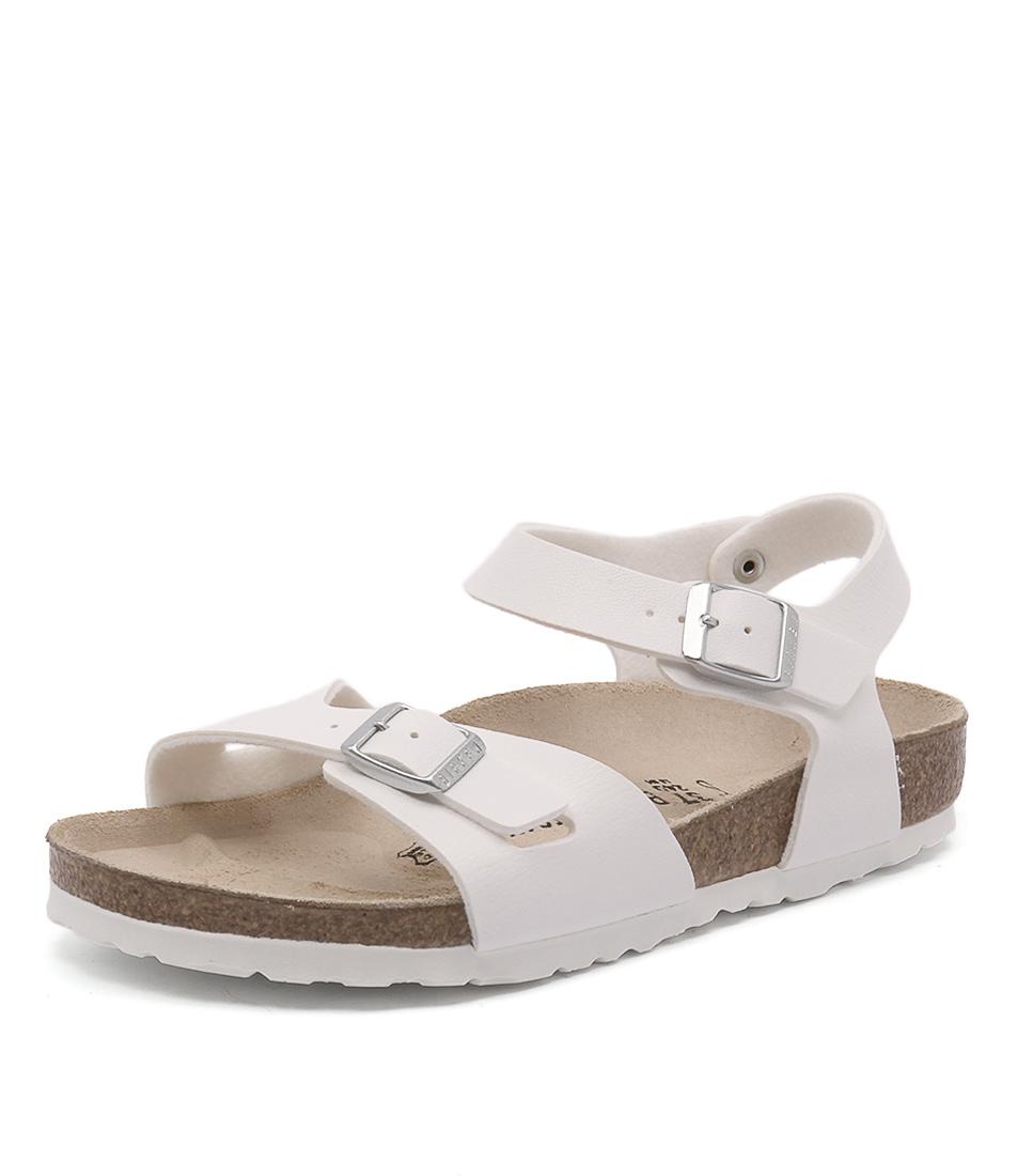 Birkenstock Rio White Birko-Flor Sandals
