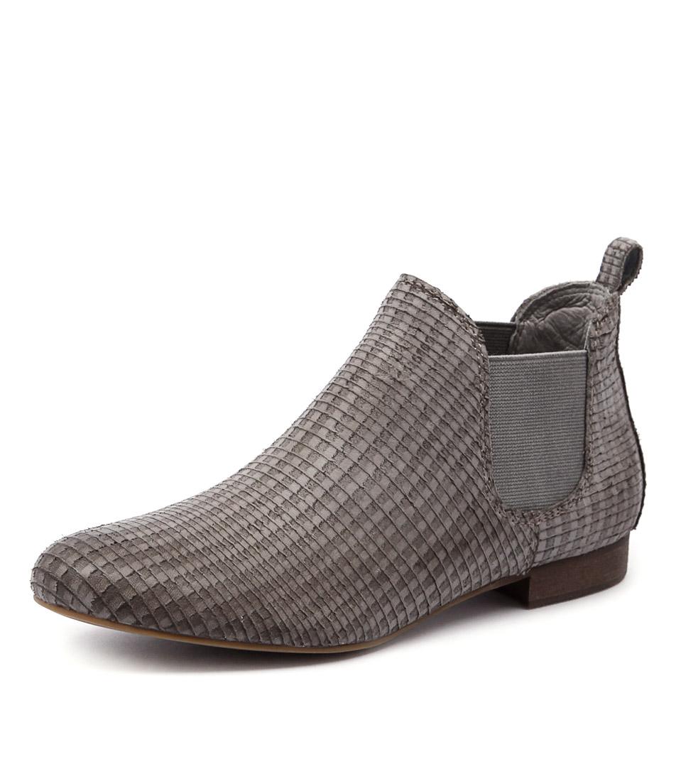 Django & Juliette Glenvalia Stone Cut Leather Boots online