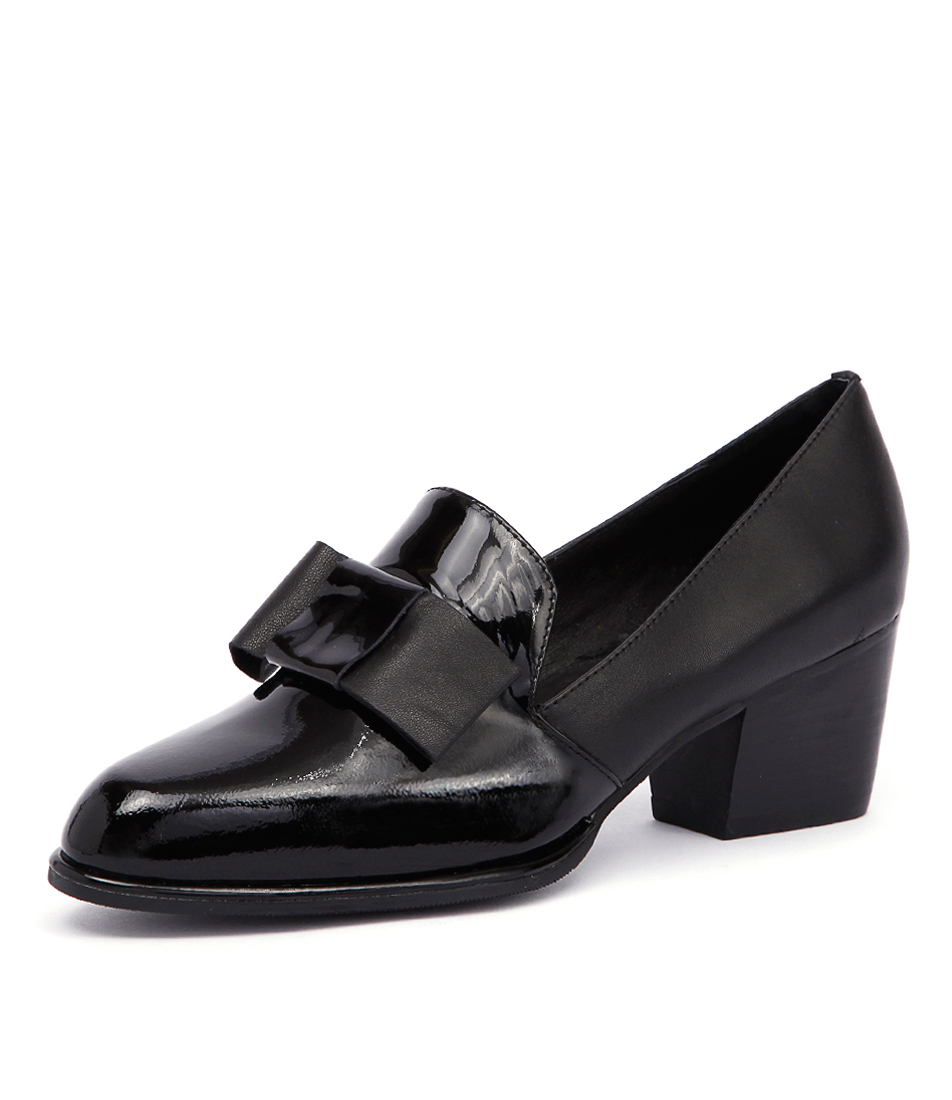 Django & Juliette Rebas Black Patent-Leather Loafers