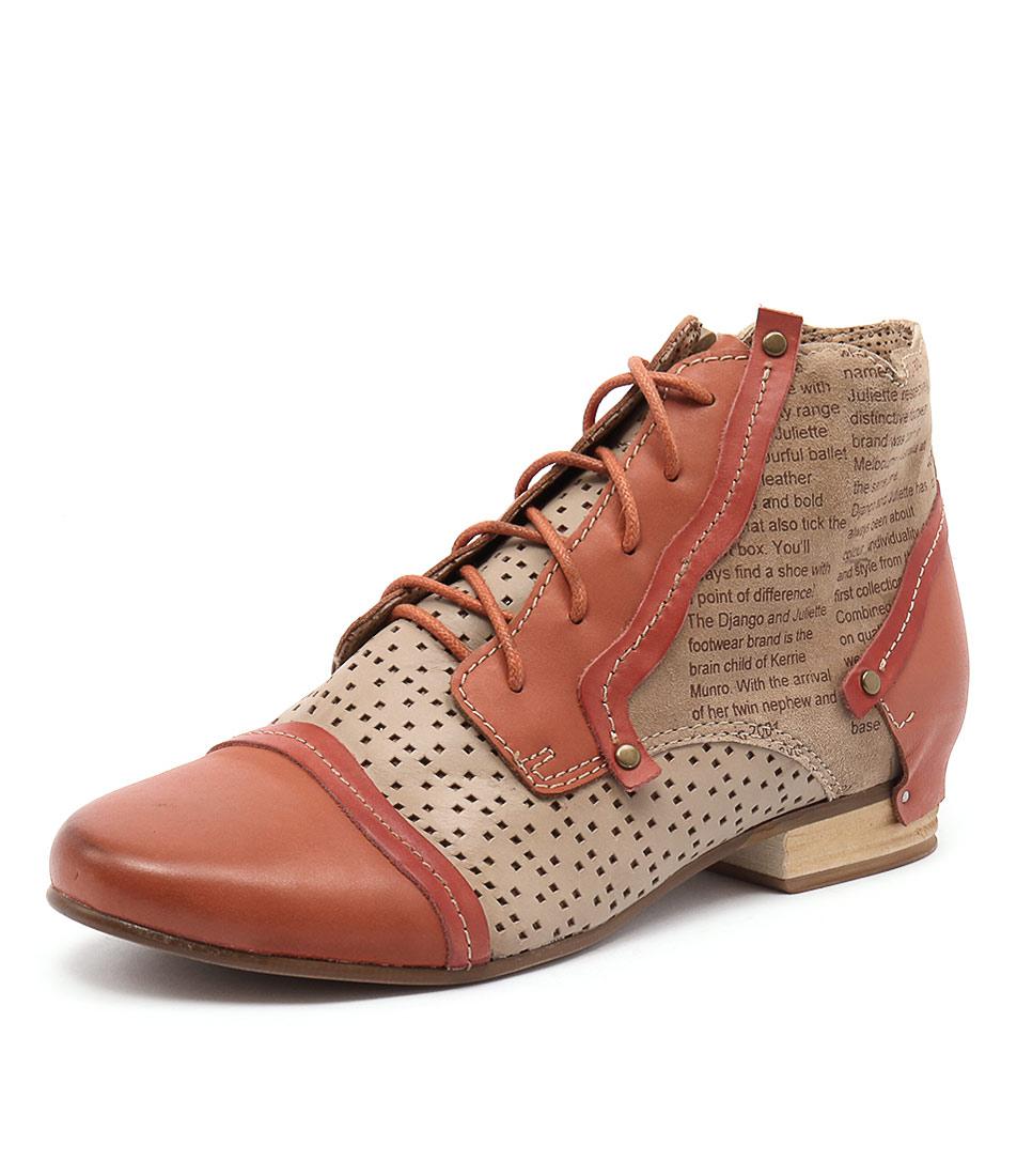 Django & Juliette Dandle Orange Multi Boots