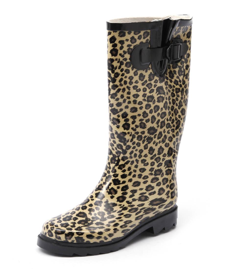 Gumboots Leopard Boots