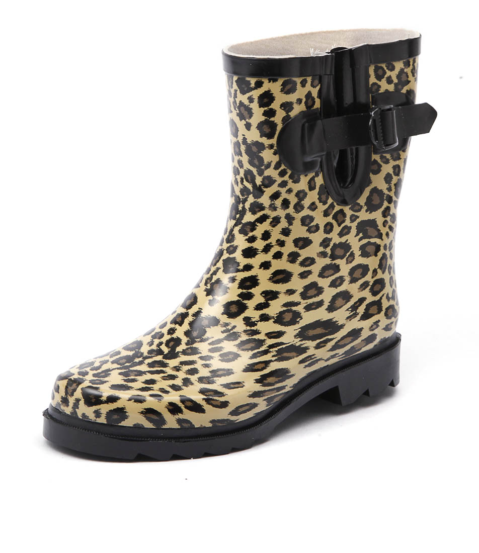 Gumboots Short Leopard Boots