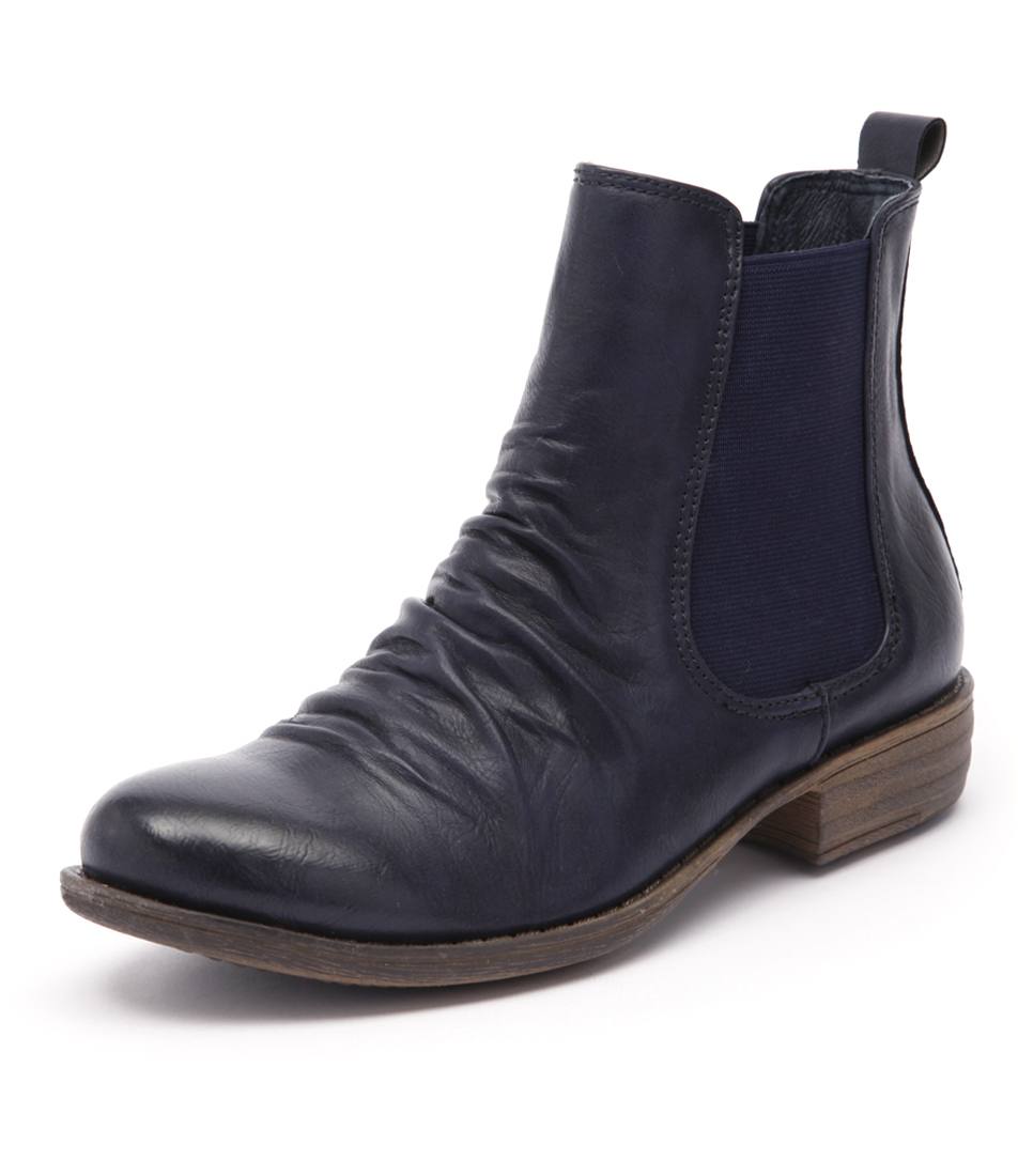 I Love Billy Welly Navy Boots