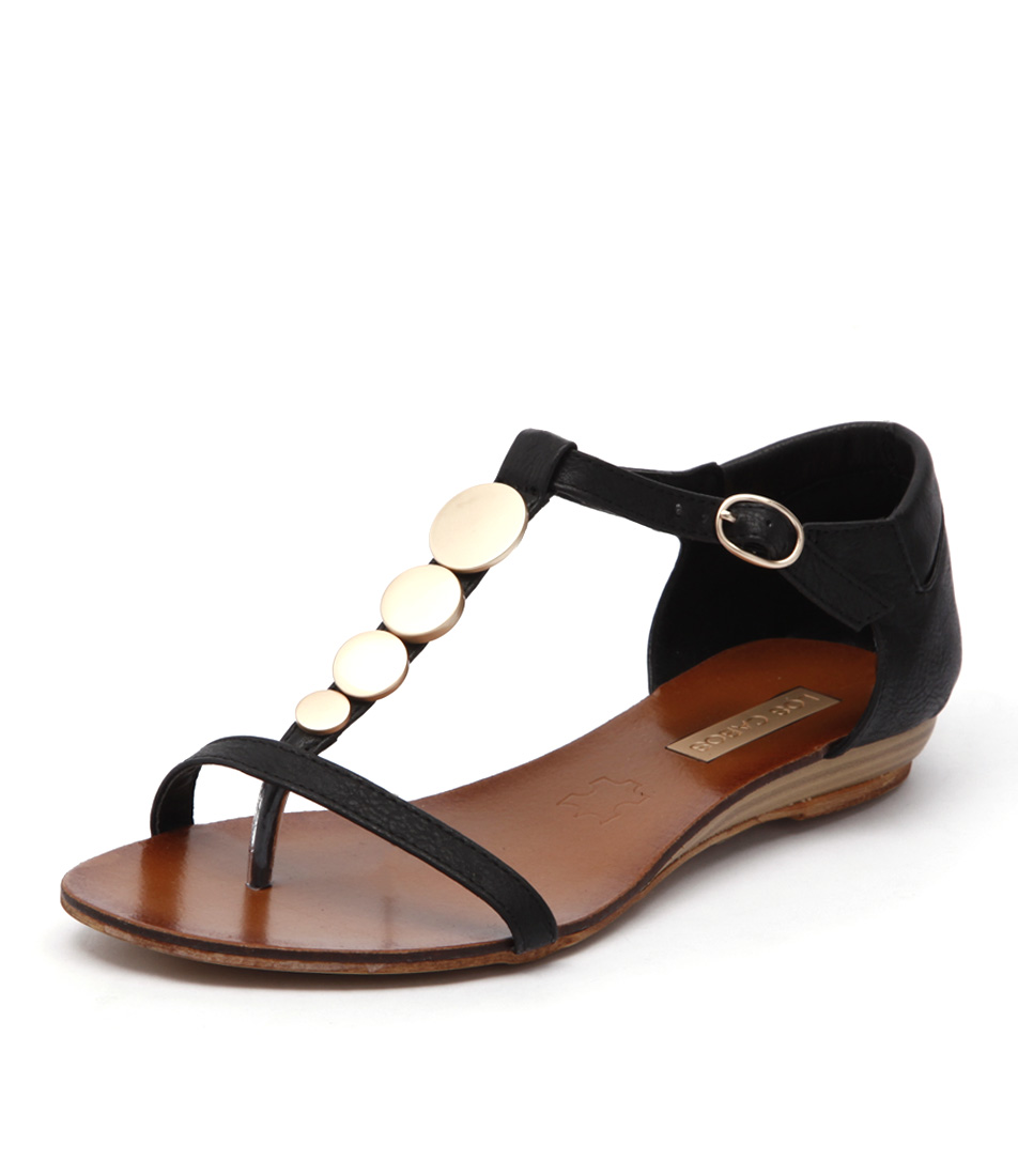 Los Cabos Circles Black Sandals