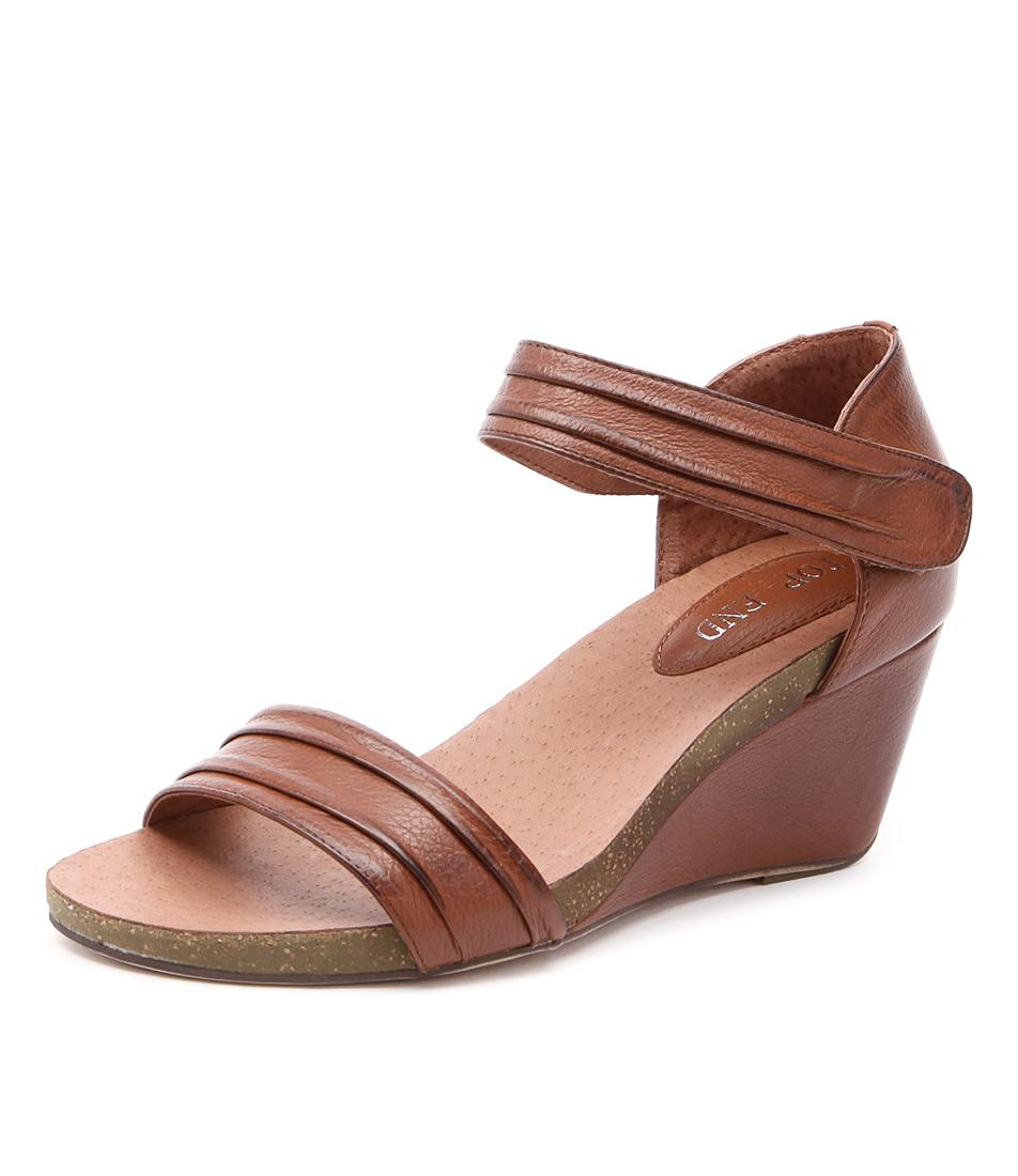 Top End Ruskatt Cognac Sandals