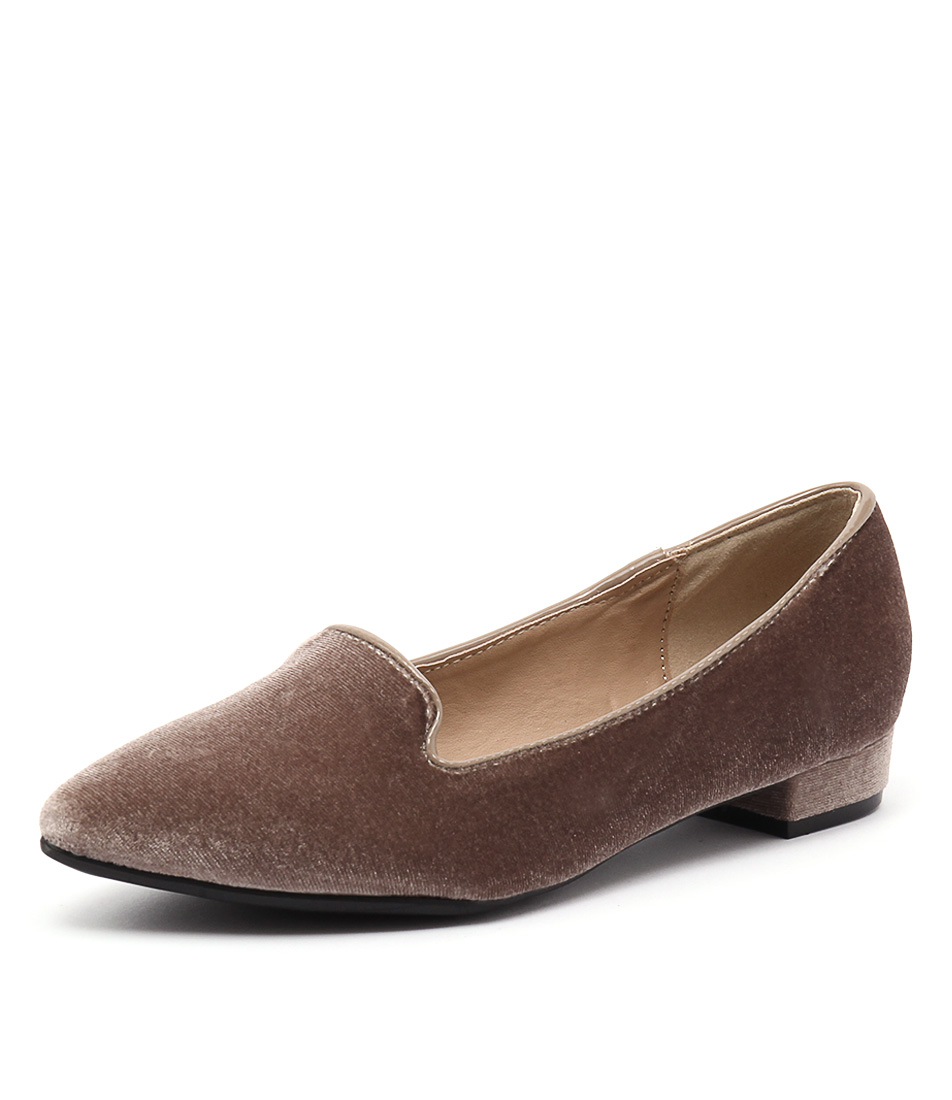 Lavish Sizzle Taupe Loafers online