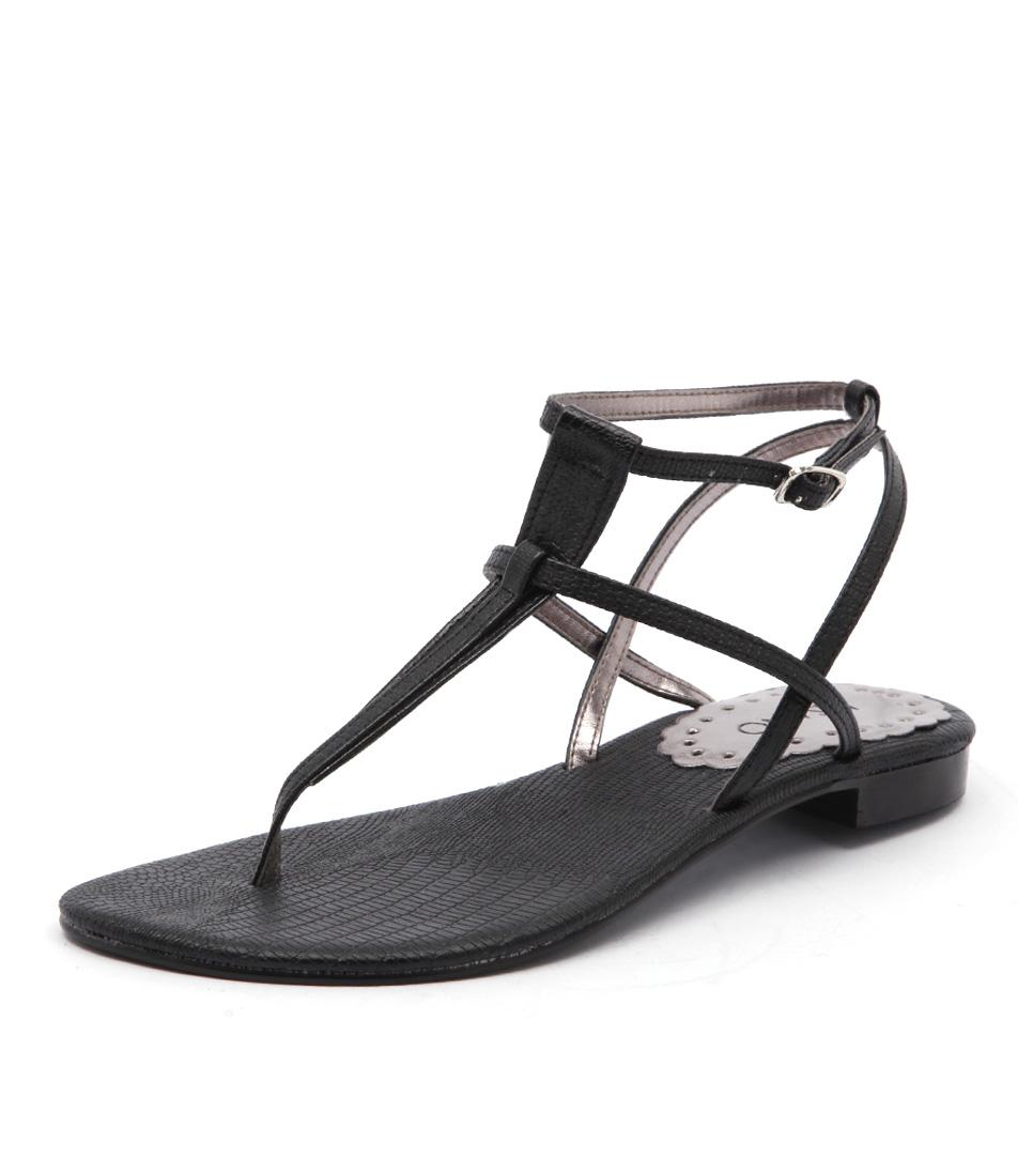 Misano Shizu Black Sandals