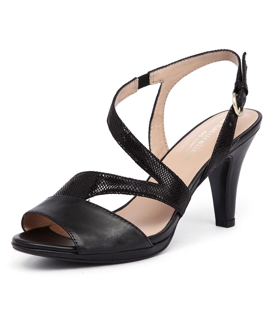 Naturalizer Impulse Black Iguana Sandals