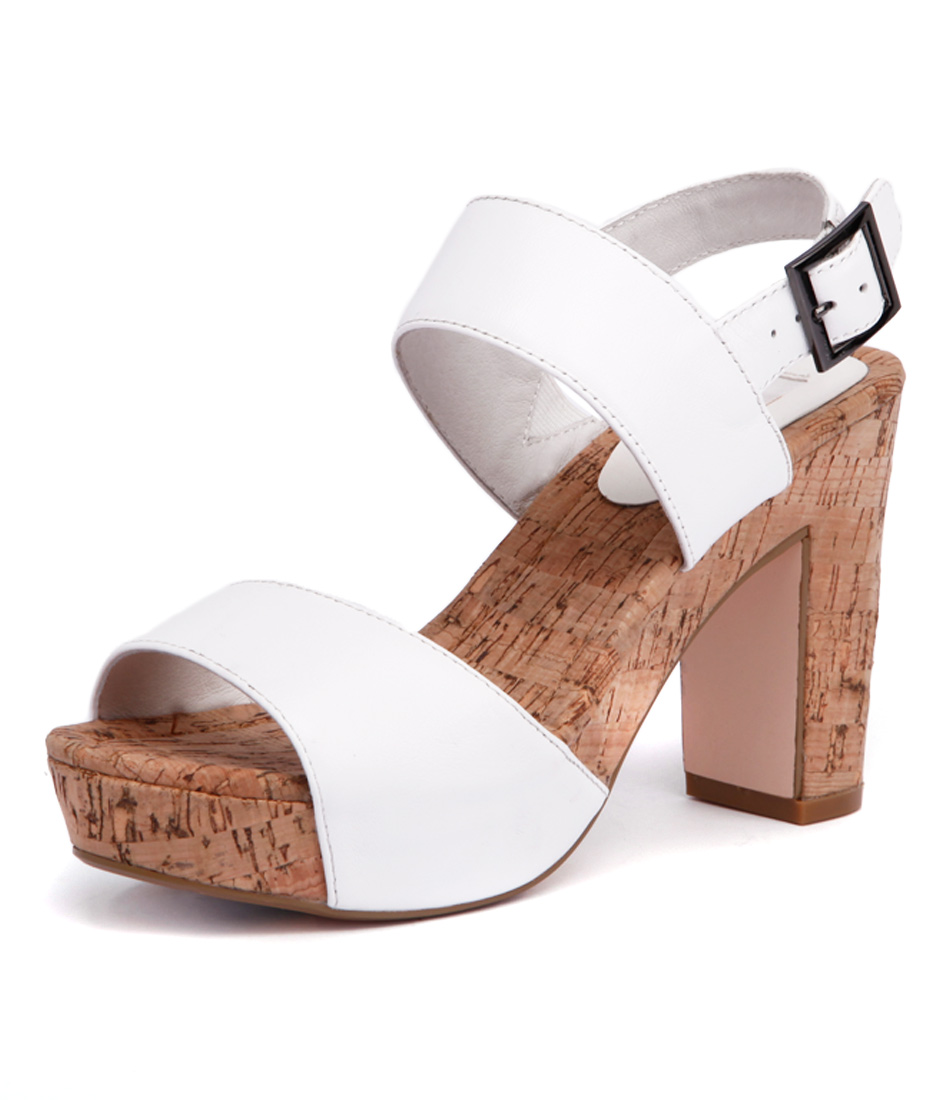Nude Chi Chi White Sandals