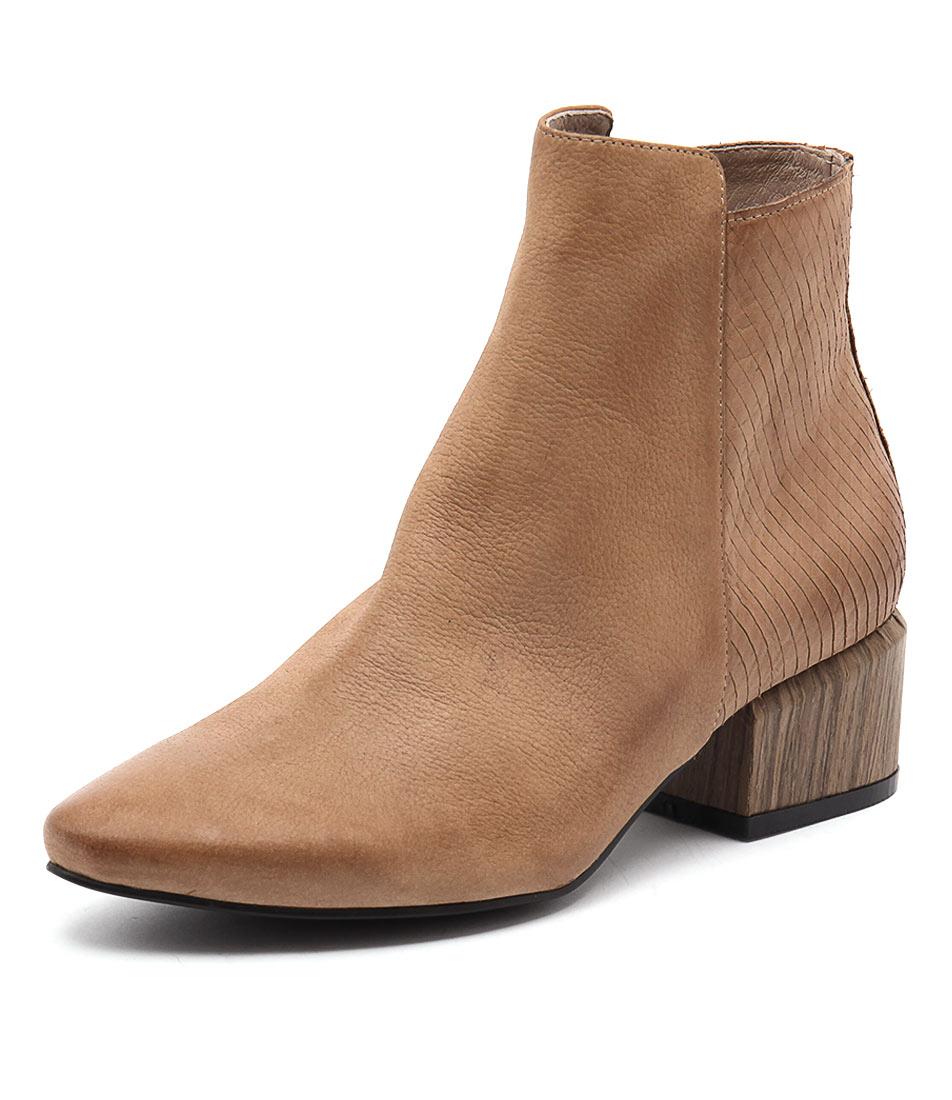 Silent D Sindra Cognac Nubuck-Cut Nubuck Boots