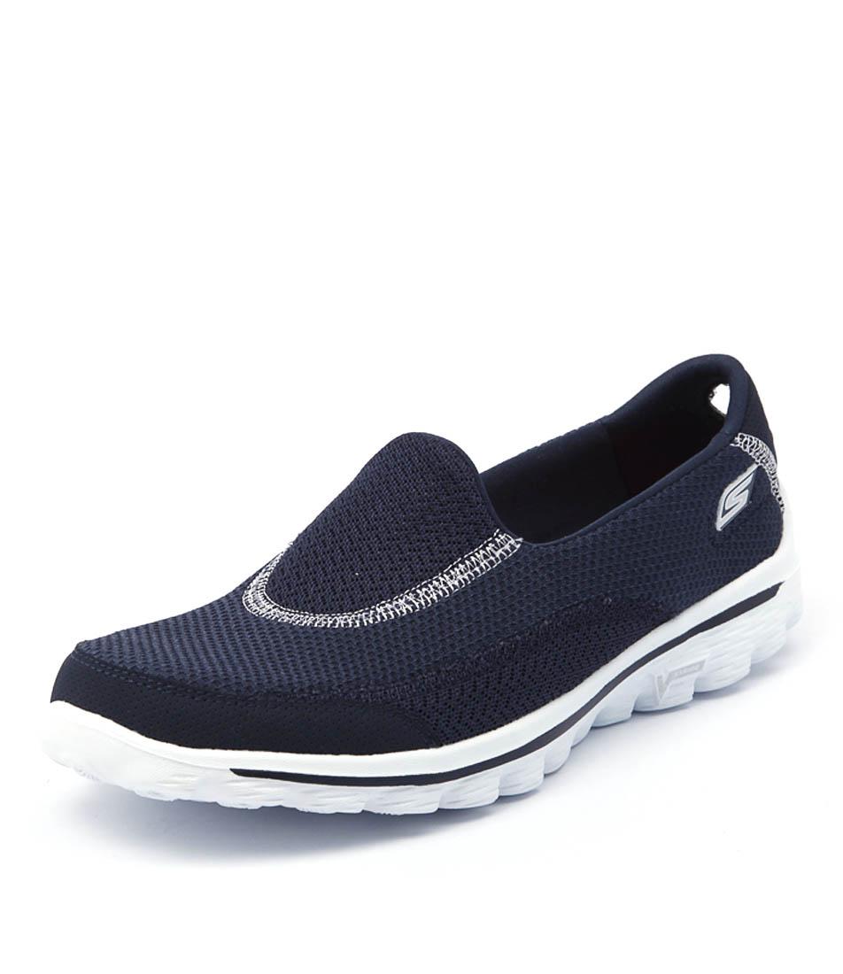 Skechers Go Walk 2 Navy Sneakers