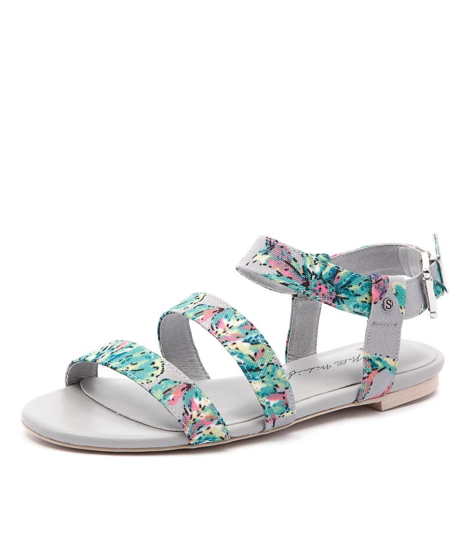 Skin Parker Kelly Floral Green Sandals
