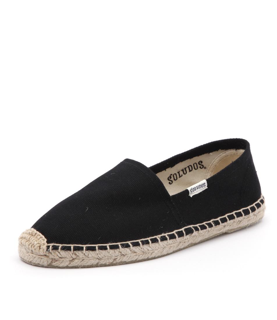 Soludos Original Canvas Dali Black Shoes