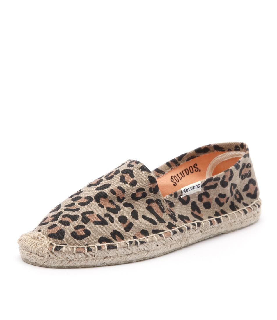 Soludos Original Prints Leopard Tan Shoes online