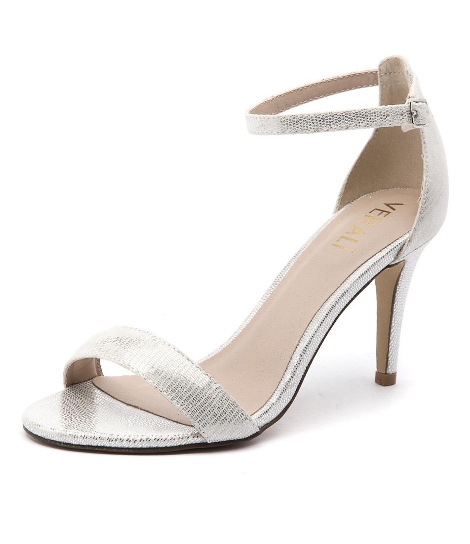 Verali Matthew Silver Lizard Sandals